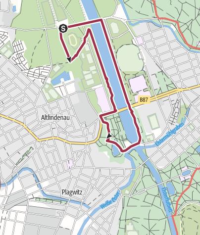 Map / An der Luppe zur Hundewiese Palmgarten