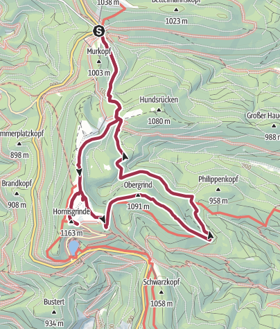 Karte / Hornisgrinde