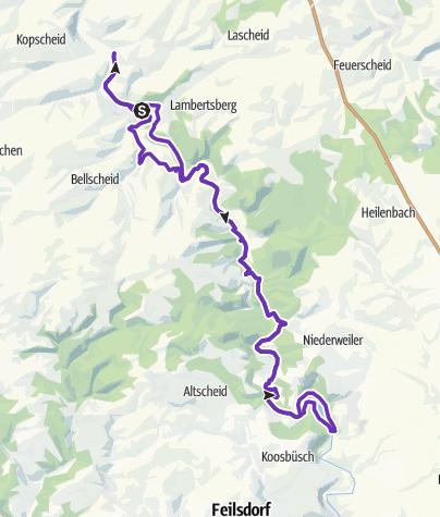 Karte / EIFELMARATHON - MARATHON