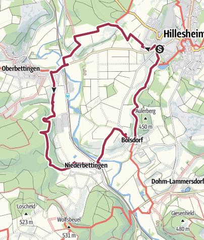 Map / Bolsdorf-oberbettingen Trail on 30 December 2018