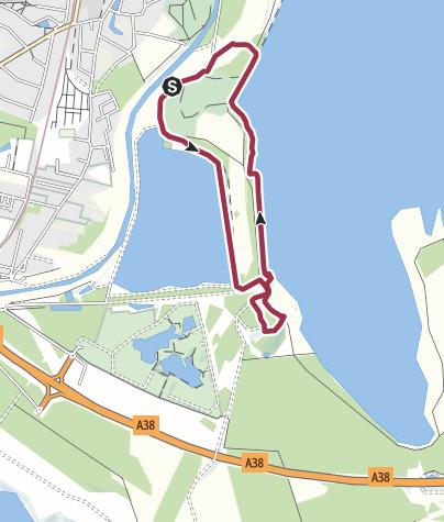 Map / Vom Elsterstausee zur Bistumshöhe und am Cossi zurück