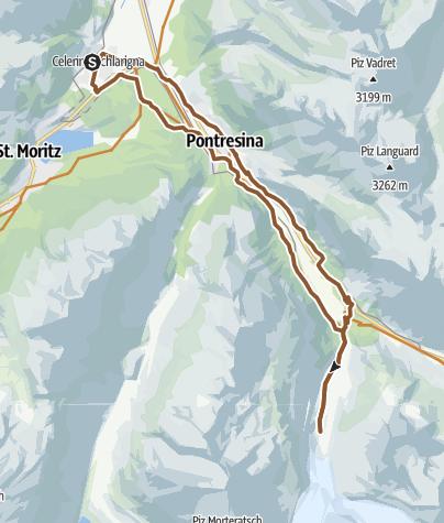 Map / Morteratsch Glacier