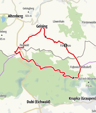Karte / RR ERZ T05 Über Mückentürmchen nach Zinnwald
