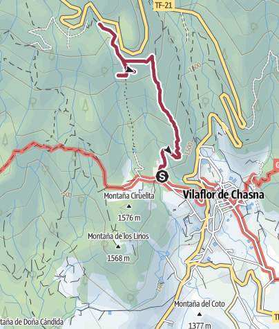 Map / Hiking Trail on December 30, 2018