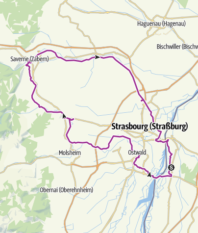 Karte / Tagestour nach Saverne