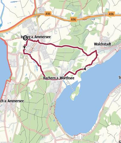 Karte / Starnberger Fünf-Seen-Land Inning Bachern