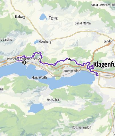 Karte / Traillauf von Pörtschach - Klagenfurt