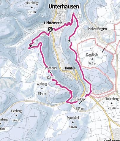 Karte / 19. Januar 2019  Schloss Lichtenstein