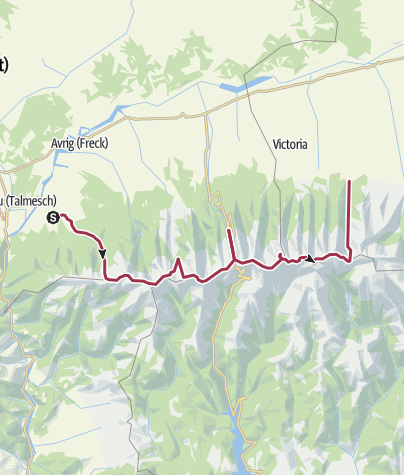 Map / Hiking trail in the beautiful Fagaras Mountains