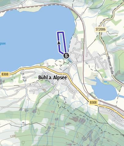 Karte / Alpseeschwimmen am 08.06.2019