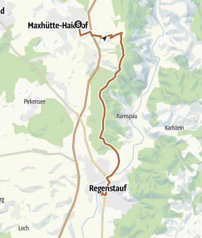 Karte / Bahnhof Maxhütte-Haidhof - Kappl - Regenstauf