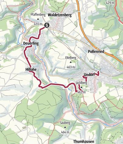 Karte / Bhf Deuerling - Deuerling - Bhf Undorf