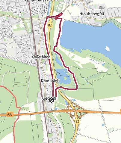 Map / Zum Markkleeberger See - eine Hundewanderung