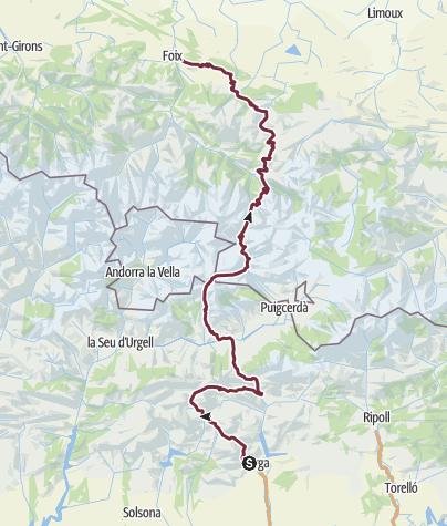 Karte / GR107 Chemin des Bonshommes