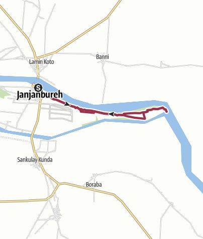 Karte / JJB to Kumbanyerr East on Island