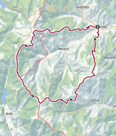 Map / Winterhike 2019 - rond Mittlach