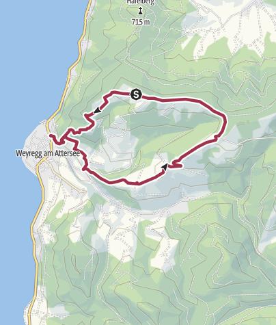 Karte / Gahberg-Weyregg-Miglberg-Runde
