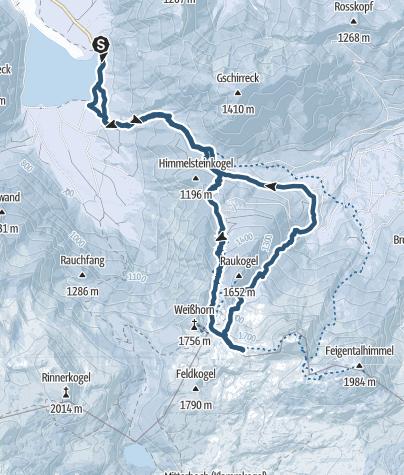 Map / Weißhorn Überschreitung ins Kühweißhorn 27. Januar 2019