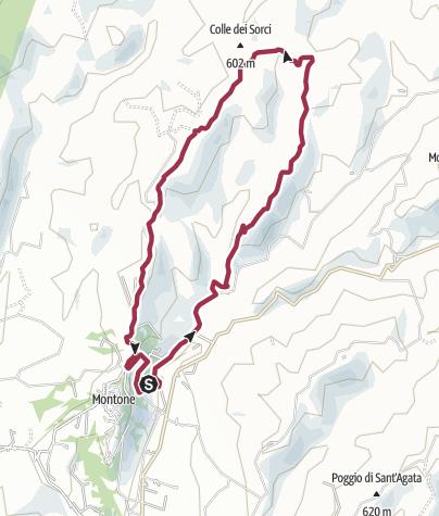 Karte / Montone - Valcelle Rundwanderung