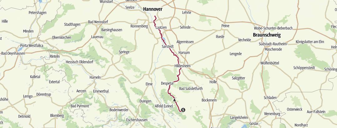 Karte / Tourenplanung am 28. Januar 2019