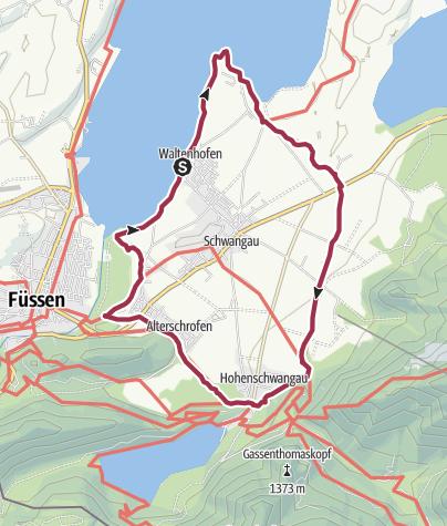 Karte / Schwangauer Rundweg