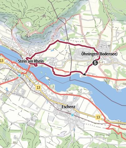Karte / Grenzüberschreitender Wanderweg