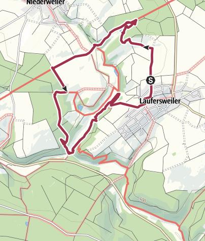 Karte / Auf dem Römerweg bei Laufersweiler