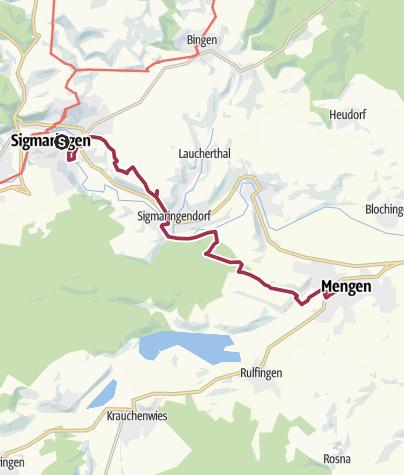 Karte / Sigmaringen-Mengen
