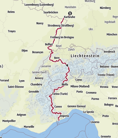 Térkép / 00_Pfalz-Mittelmeer Gesamtstrecke