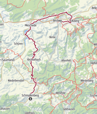 Karte / Von der Lenne an die Ruhr