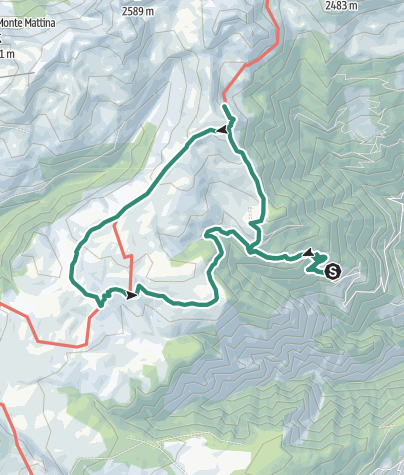 Mappa / Marz 2, 2019 Monte del Passo / Jocherer Berg