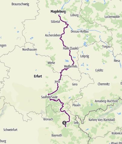 Karte / Saaleradweg