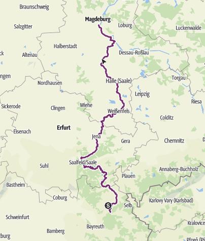 Map / Saaleradweg