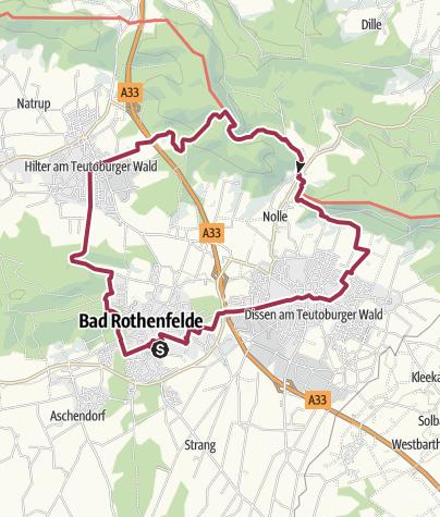 Map / B+H-2019-02-14: Bad Rothenfelde - Hilter- Dissen