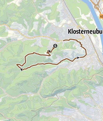 Karte / Klosterneuburg über Buchberg nach Weidling