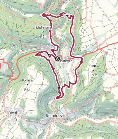 Map / Tour am 17. Februar 2019 in Leinstetten
