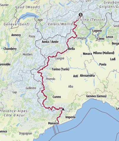 Karte / 03_GTA Grande Traversata delle Alpi