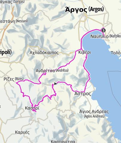 Karte / 134,20km Nafplio