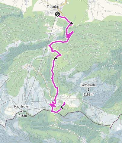 Karte / Streckenverlauf  Nassfeld Rad Classic um die Wulfenia Trophy 09.07.2021 Anmeldung: www.sportclub-hermagor.at