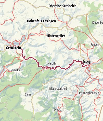 Map / Hiking Trail on 24 February 2019