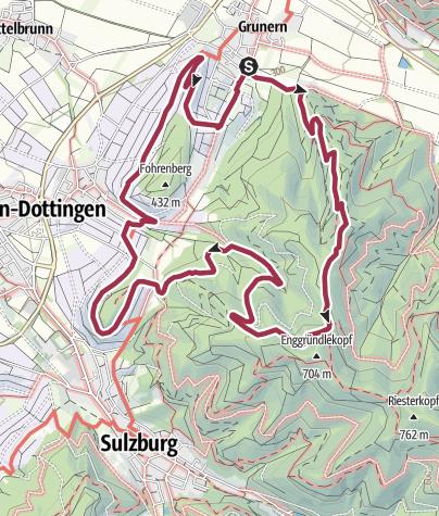 Karte / Grunern Rundweg - Kastelberg - Fohrenberg über Probststrauße