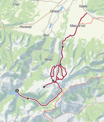 Map / Retezat mountains 9 days hiking Tour