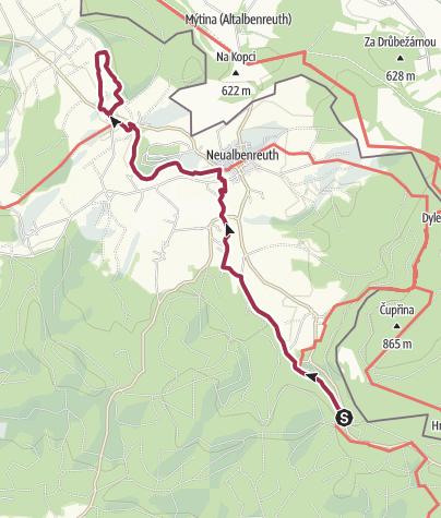 Map / Am Muglbach entlang