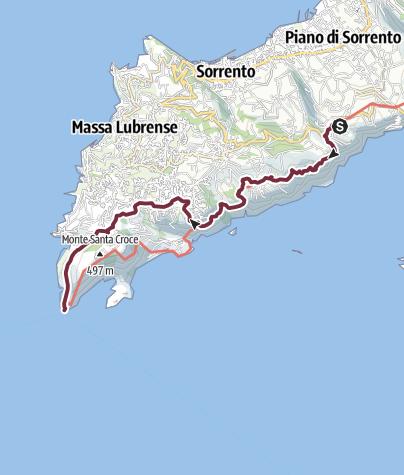 地图 / Alta via dei Monti Lattari