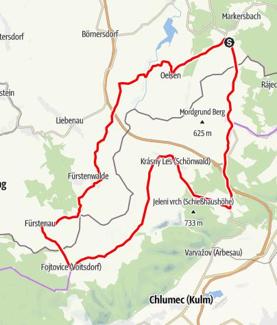 Karte / RR ERZ T04 Durch den Fürstengrund zur westlichen Grenze Böhmische Schweiz