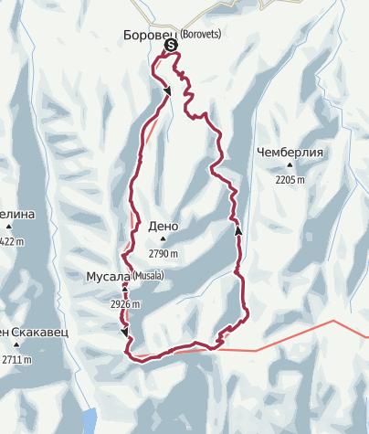 Map / 38km Okruh na Musalu