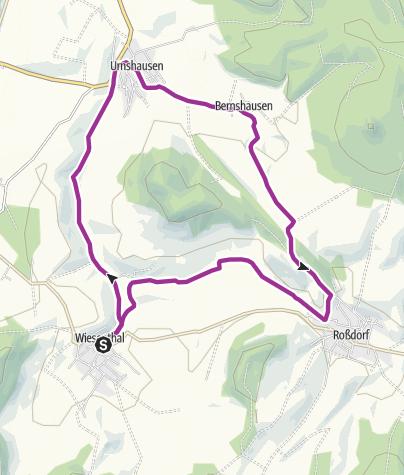 Karte / Fahrradtour Rundweg Wiesenthal-Urnshausen-Bernshausen-Roßdort-Wiesenthal