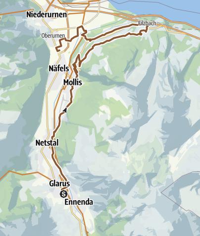 Karte / Tourfridolin Teil 1 Glarus Kerenzer SGU Bike