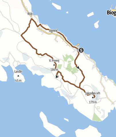 Map / Pašman SE Round Tour