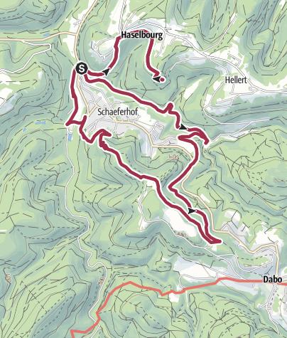 Map / Les Maisons Troglodytes
